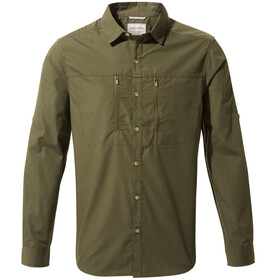 Craghoppers Kiwi Boulder Long Sleeved Shirt Men Dark Khaki